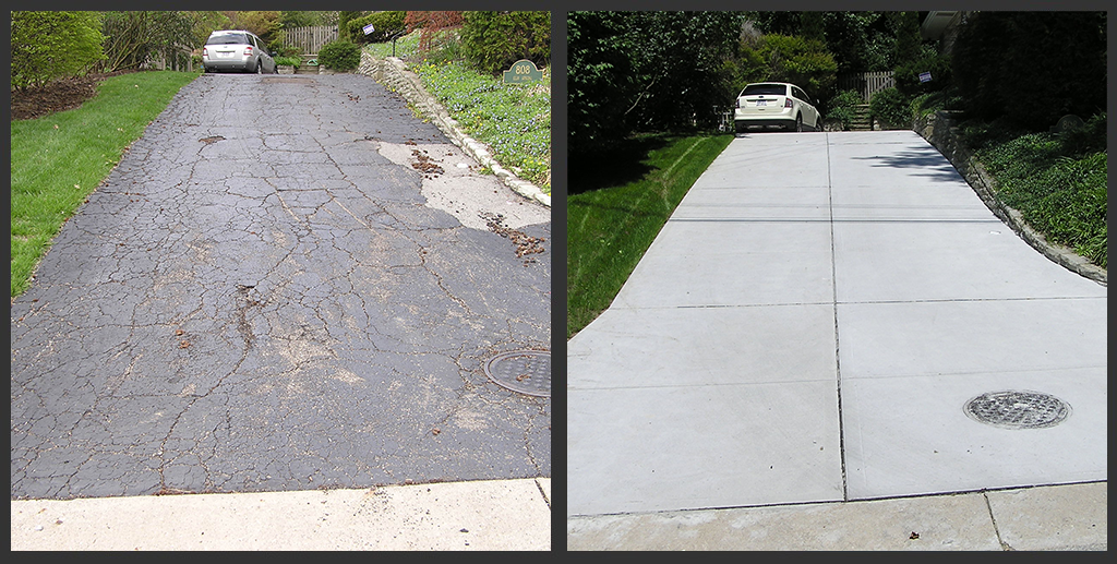 Photo gallery 2 allemang concrete masonry inc for New concrete driveway