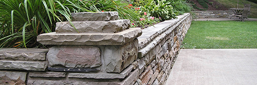 Capped Stone Walls & Patio