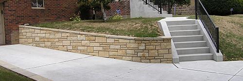 Versa-lok Walls, Concrete Driveway, Steps, Sidewalk & Porch