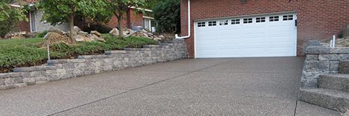Versa-lok Walls & Exposed Aggregate Driveway